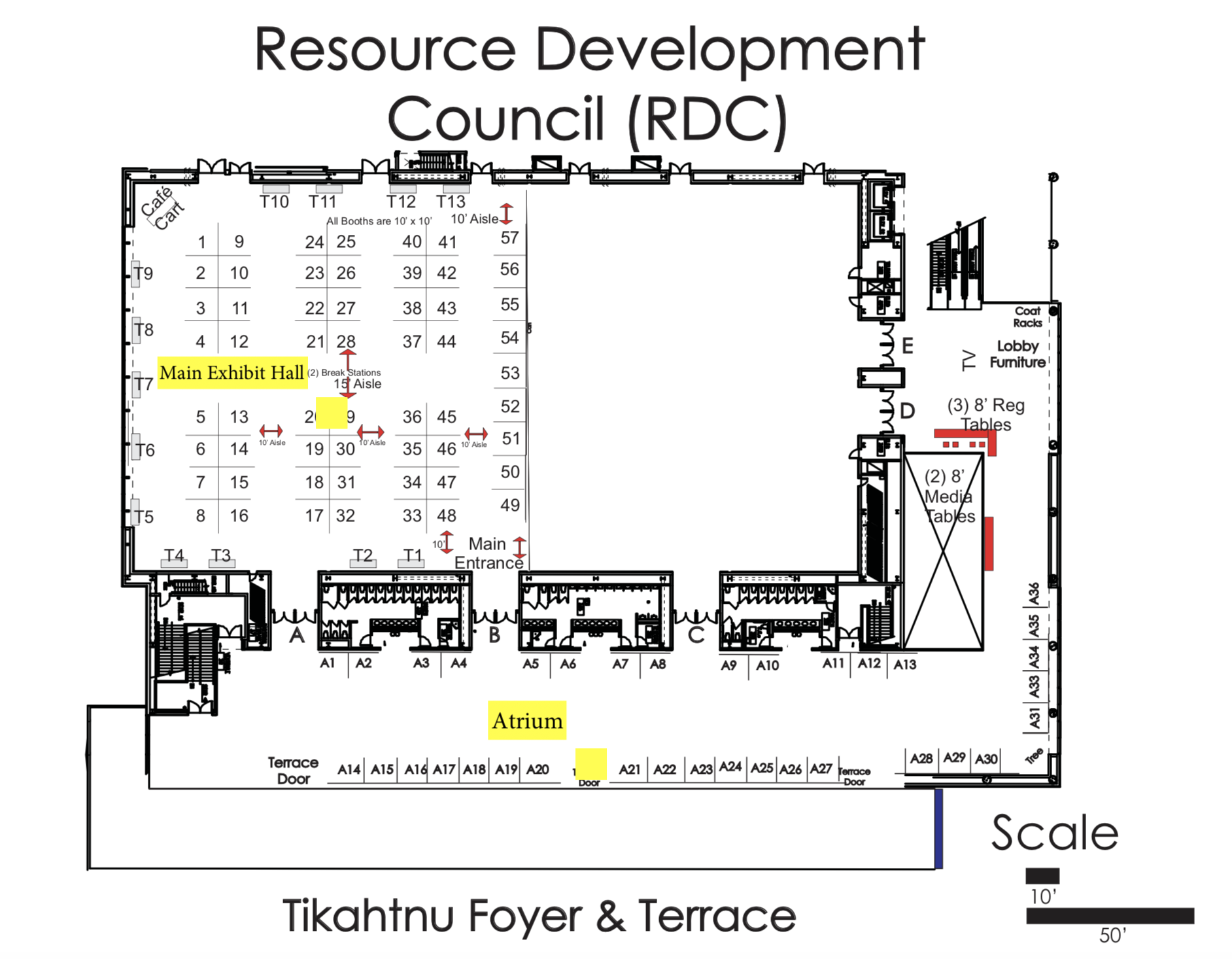 Conference Exhibitor Layout